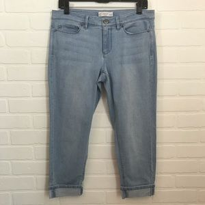 J. Jill Denim Authentic Fit Cropped Capri Sz 8P